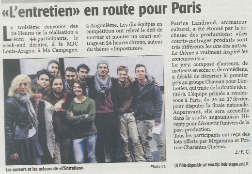 """""""L'entretien"""" en route pour Paris"""